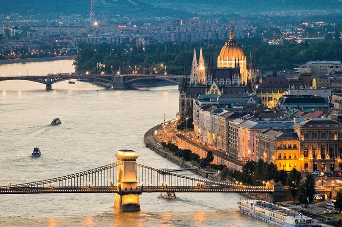anichten city and skyline of budapest, capital of hungary